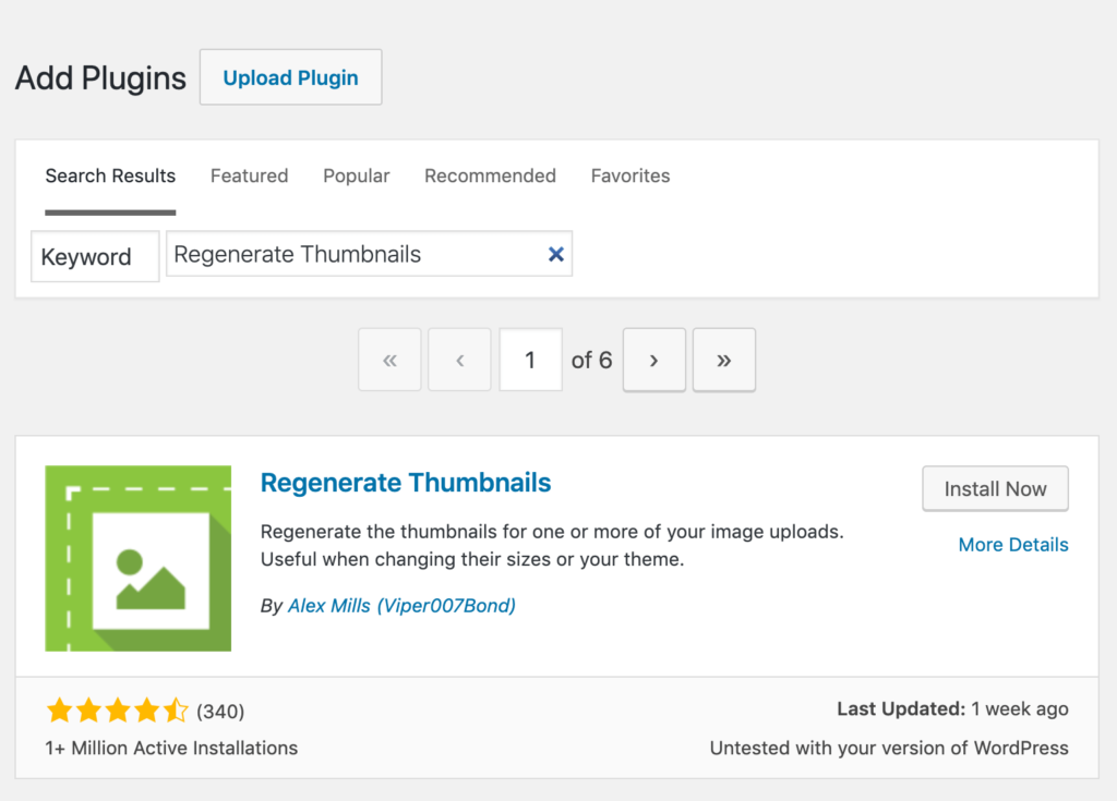 Regenerate Thumbnails Setup and Activation